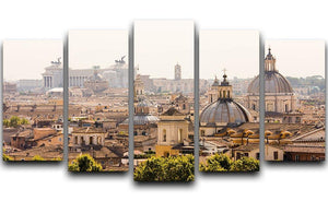 monument and several domes 5 Split Panel Canvas  - Canvas Art Rocks - 1