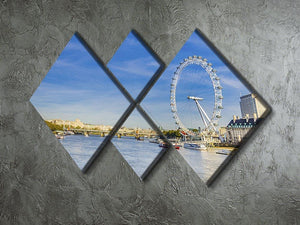 morning with London eye millennium wheel 4 Square Multi Panel Canvas  - Canvas Art Rocks - 2