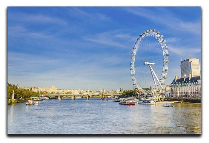 morning with London eye millennium wheel Canvas Print or Poster