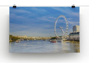 morning with London eye millennium wheel Canvas Print or Poster - Canvas Art Rocks - 2