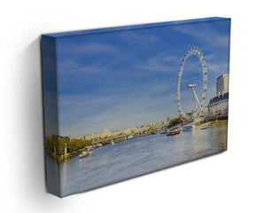 morning with London eye millennium wheel Canvas Print or Poster - Canvas Art Rocks - 3