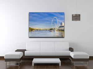 morning with London eye millennium wheel Canvas Print or Poster - Canvas Art Rocks - 4