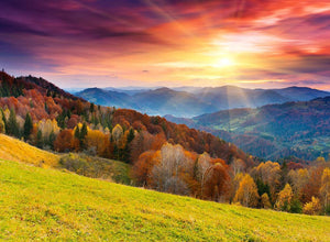 mountain autumn landscape Wall Mural Wallpaper - Canvas Art Rocks - 1