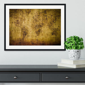 old map Framed Print - Canvas Art Rocks - 1