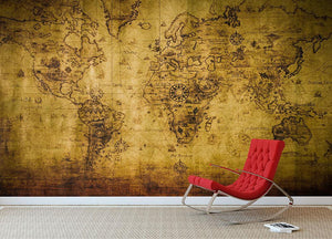 old map Wall Mural Wallpaper - Canvas Art Rocks - 2