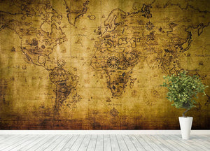 old map Wall Mural Wallpaper - Canvas Art Rocks - 4