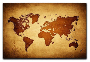 old map of the world Canvas Print or Poster  - Canvas Art Rocks - 1
