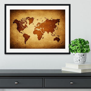 old map of the world Framed Print - Canvas Art Rocks - 1