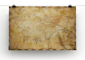 old nautical treasure map illustration Canvas Print or Poster - Canvas Art Rocks - 2