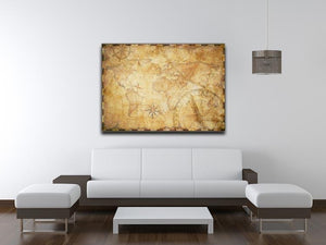 old nautical treasure map illustration Canvas Print or Poster - Canvas Art Rocks - 4
