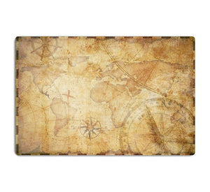 old nautical treasure map illustration HD Metal Print