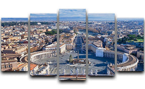 panorama of St.Peter Square 5 Split Panel Canvas  - Canvas Art Rocks - 1