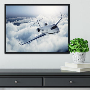 private jet flying over the earth Framed Print - Canvas Art Rocks - 2