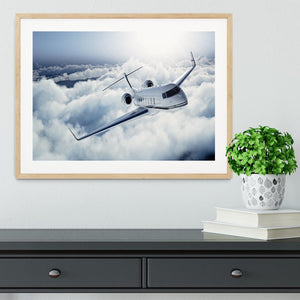 private jet flying over the earth Framed Print - Canvas Art Rocks - 3
