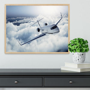 private jet flying over the earth Framed Print - Canvas Art Rocks - 4