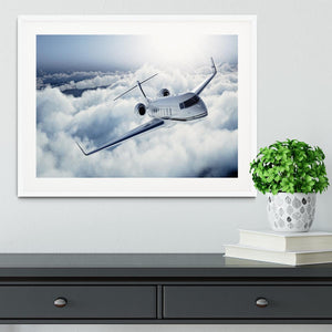 private jet flying over the earth Framed Print - Canvas Art Rocks - 5