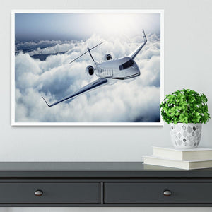 private jet flying over the earth Framed Print - Canvas Art Rocks -6