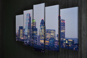 skyline from Greenwich 5 Split Panel Canvas  - Canvas Art Rocks - 2