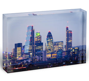 skyline from Greenwich Acrylic Block - Canvas Art Rocks - 1