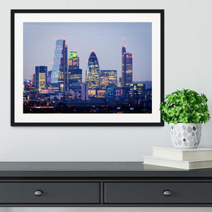 skyline from Greenwich Framed Print - Canvas Art Rocks - 1