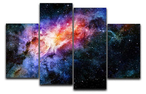 starry deep outer space nebula and galaxy 4 Split Panel Canvas  - Canvas Art Rocks - 1