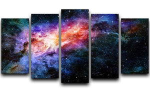 starry deep outer space nebula and galaxy 5 Split Panel Canvas  - Canvas Art Rocks - 1