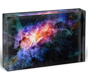 starry deep outer space nebula and galaxy Acrylic Block - Canvas Art Rocks - 1
