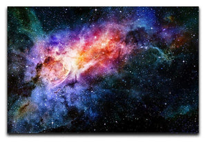 starry deep outer space nebula and galaxy Canvas Print or Poster  - Canvas Art Rocks - 1