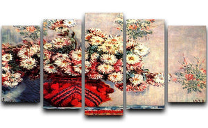 still life chrysanthemums 5 Split Panel Canvas  - Canvas Art Rocks - 1