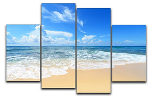 summer sky of Okinawa 4 Split Panel Canvas - Canvas Art Rocks - 1
