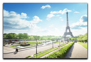 sunny morning and Eiffel Towe Canvas Print or Poster  - Canvas Art Rocks - 1