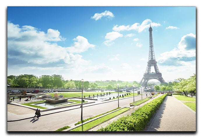 sunny morning and Eiffel Towe Canvas Print or Poster