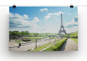 sunny morning and Eiffel Towe Canvas Print or Poster - Canvas Art Rocks - 2