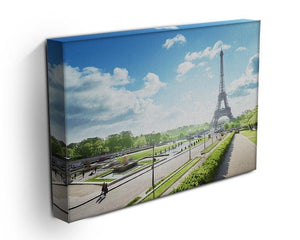 sunny morning and Eiffel Towe Canvas Print or Poster - Canvas Art Rocks - 3