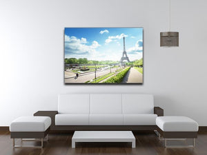 sunny morning and Eiffel Towe Canvas Print or Poster - Canvas Art Rocks - 4