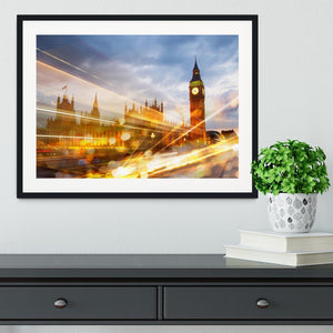 sunset Big Ben and houses of Parliament Framed Print - Canvas Art Rocks - 1