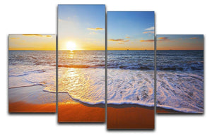 sunset and sea 4 Split Panel Canvas - Canvas Art Rocks - 1