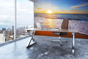 sunset and sea Wall Mural Wallpaper - Canvas Art Rocks - 3
