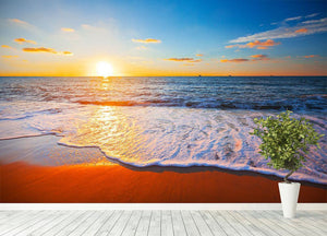 sunset and sea Wall Mural Wallpaper - Canvas Art Rocks - 4