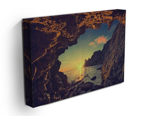 sunset from the mountain cave Canvas Print or Poster - Canvas Art Rocks - 3