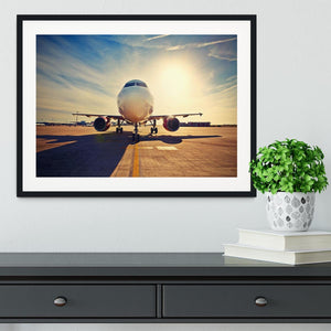 take off at the sunrise Framed Print - Canvas Art Rocks - 1