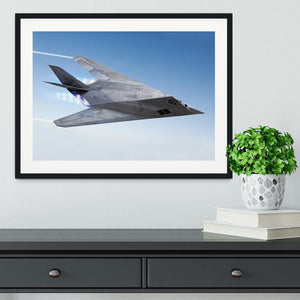 tealth aircraft streaking through the sky Framed Print - Canvas Art Rocks - 1