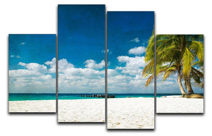 tropical beach 4 Split Panel Canvas - Canvas Art Rocks - 1