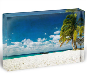 tropical beach Acrylic Block - Canvas Art Rocks - 1