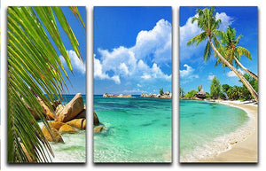 tropical paradise 3 Split Panel Canvas Print - Canvas Art Rocks - 1