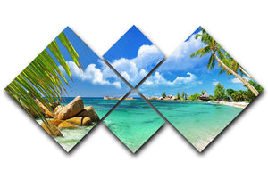 tropical paradise 4 Square Multi Panel Canvas - Canvas Art Rocks - 1