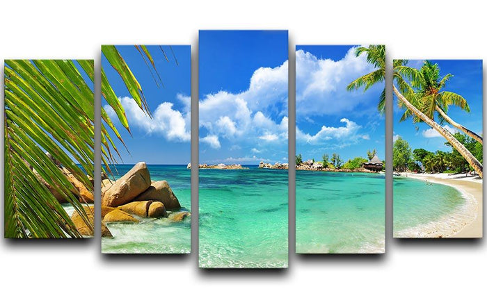 tropical paradise 5 Split Panel Canvas