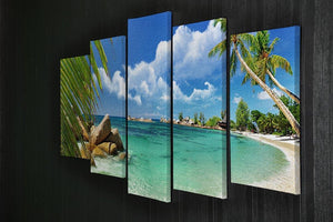 tropical paradise 5 Split Panel Canvas - Canvas Art Rocks - 2