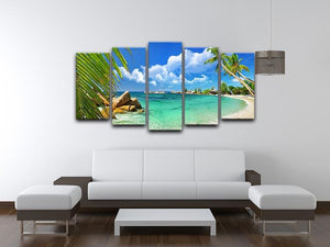 tropical paradise 5 Split Panel Canvas - Canvas Art Rocks - 3