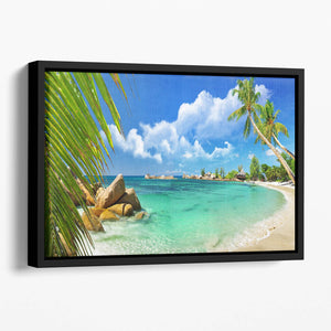tropical paradise Floating Framed Canvas